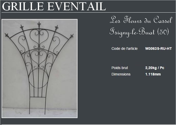 Grille eventail petite