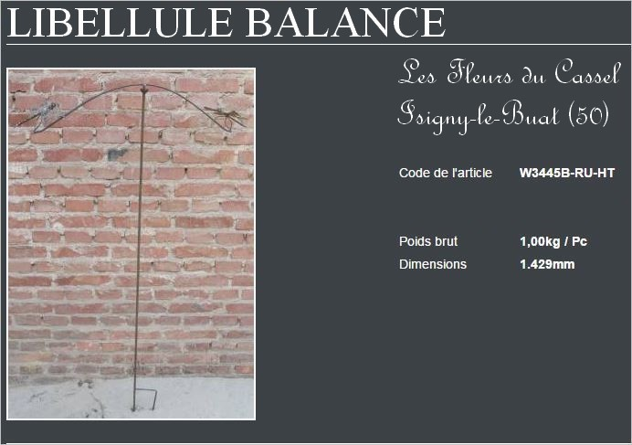 Libellulles balance